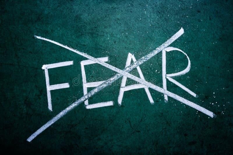 Отсутствие принципиальной схемы страха стоковое изображение rf