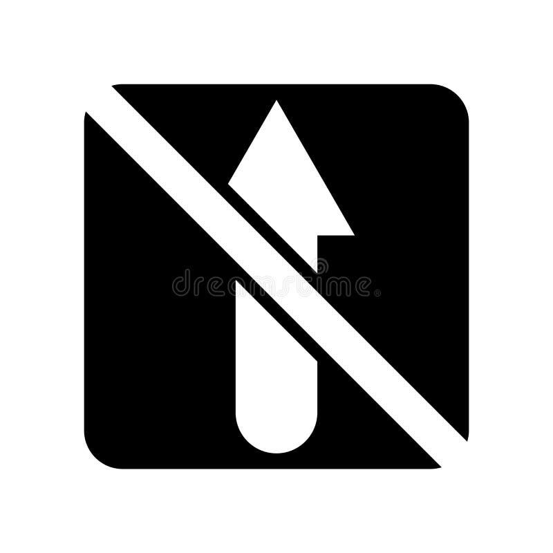 Отсутствие прямого вектора изолированного на белой предпосылке, отсутствие прямого знака значка иллюстрация вектора