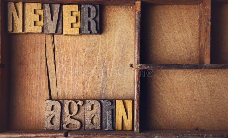 Отсутствие снова в деревянном typeset letterpress стоковое фото