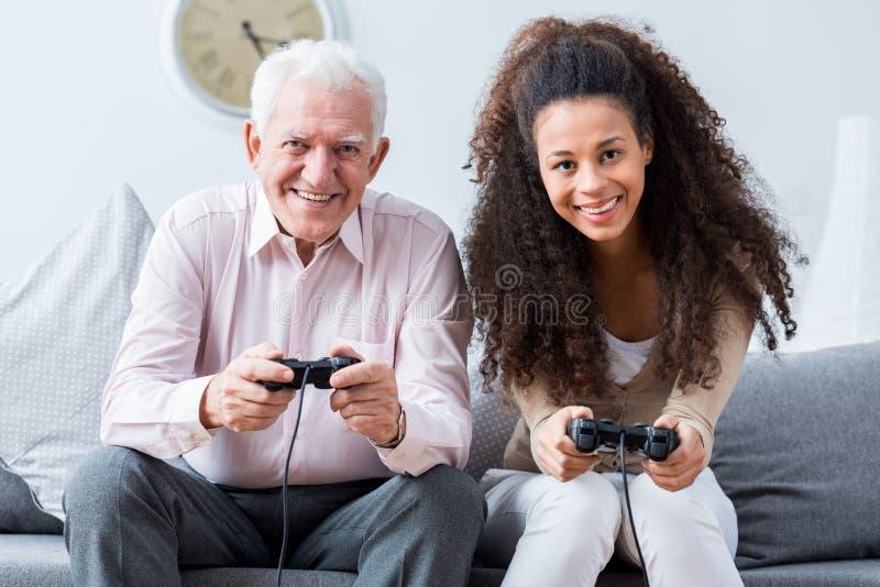 Отсутствие слишком поздно для видеоигр игры стоковое изображение rf