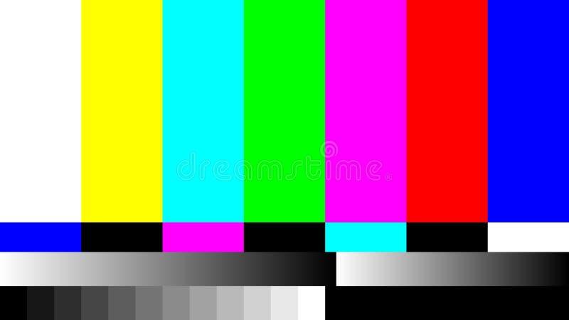 Отсутствие телевизионной испытательной таблицы телевидения ТВ сигнала ретро Цвет RGB запирает иллюстрацию стоковое изображение