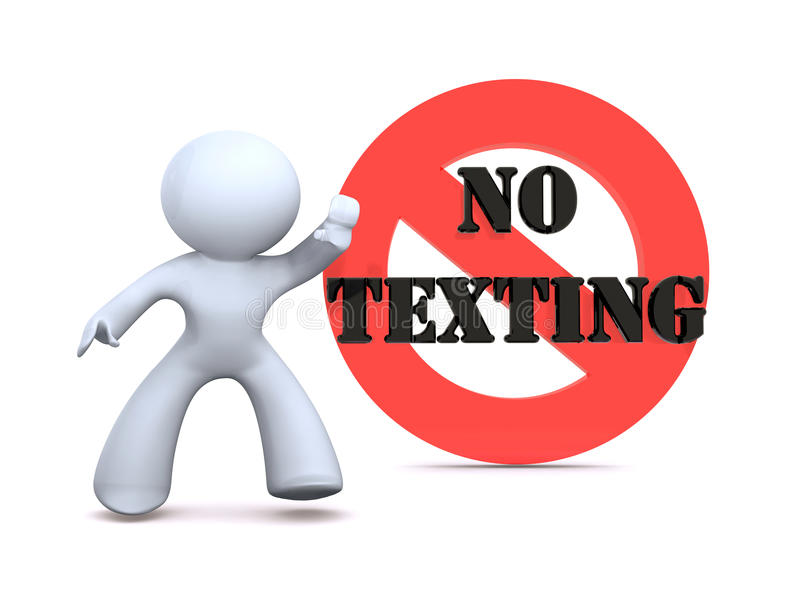 отсутствие texting иллюстрация штока