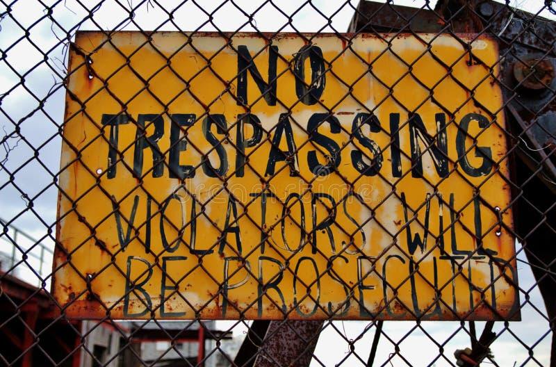 Отсутствие Trespassing стоковое изображение
