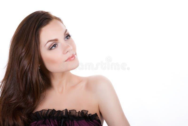 отсутствующая смотря женщина стоковое изображение