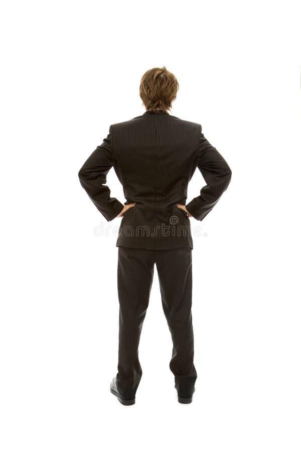 отсутствующие стороны бизнесмена стоковая фотография