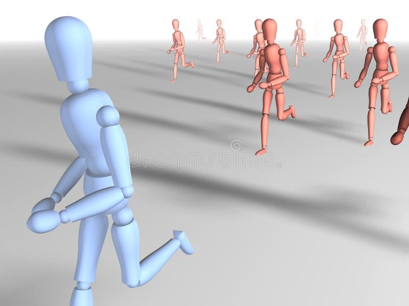 отсутствующий бежать 2 иллюстрация штока