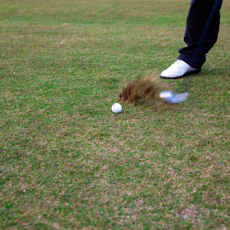 отсытствия игрока в гольф шарика стоковые изображения