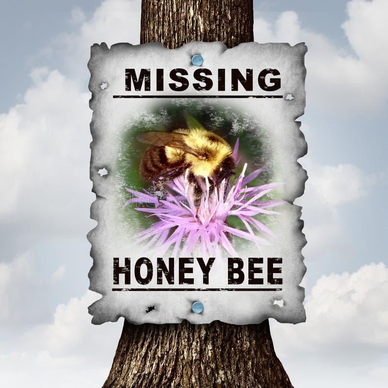 Отсытствия пчелы меда бесплатная иллюстрация