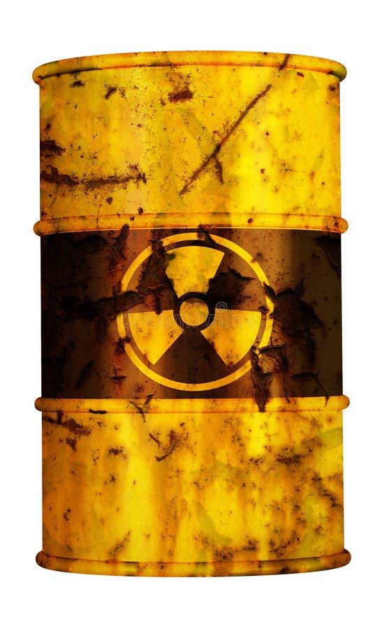 отход риска ядерного загрязнения бочонка радиоактивный иллюстрация вектора