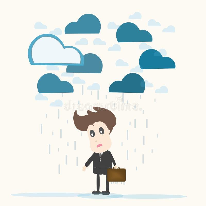 Отчаяние, бизнесмен. бесплатная иллюстрация