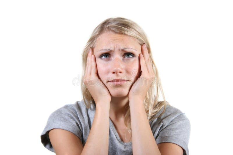 отчаянная женщина стоковое фото rf
