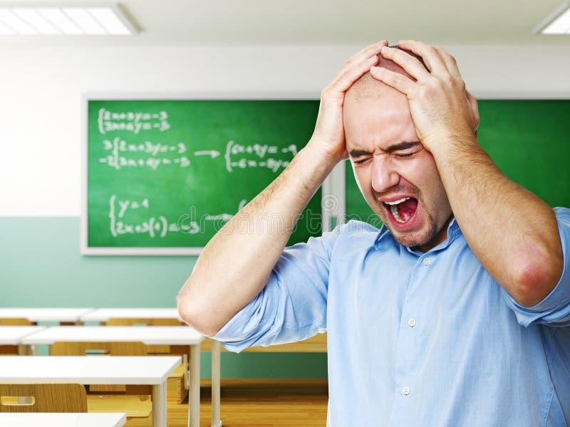 отчаянный учитель стоковые изображения rf