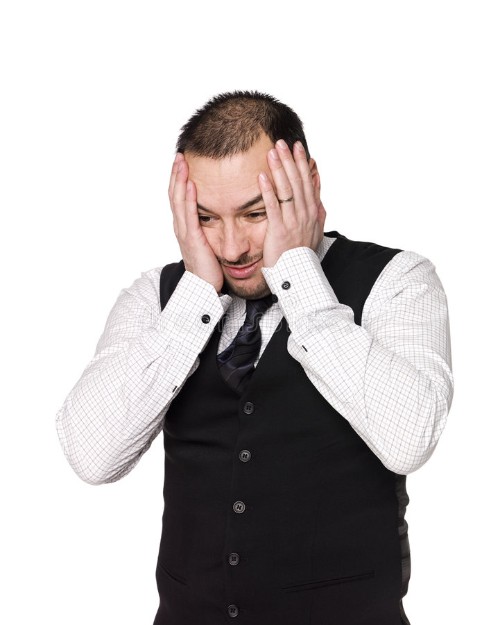 отчаянный человек стоковое изображение rf