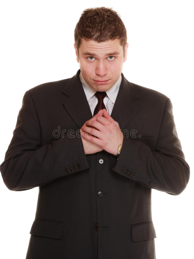 Отчаянный человек спрашивая прощению beseeching помощь стоковое фото rf
