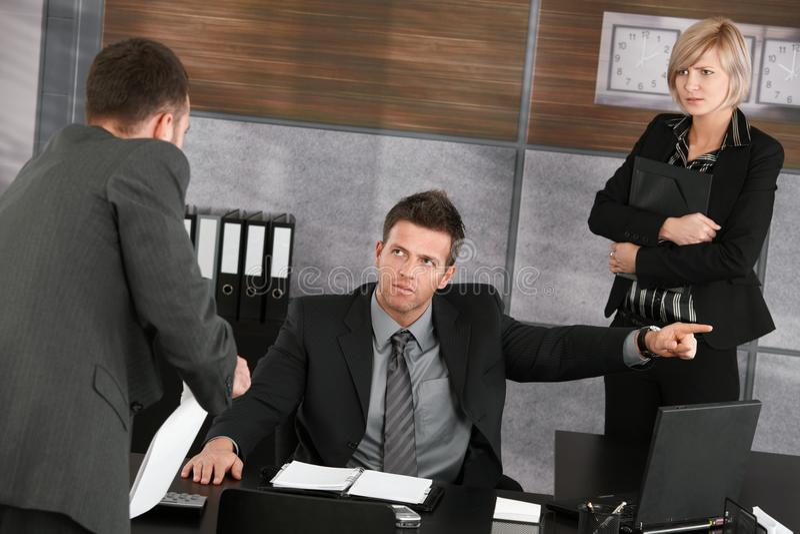отчетность бизнесмена исполнительная к стоковая фотография