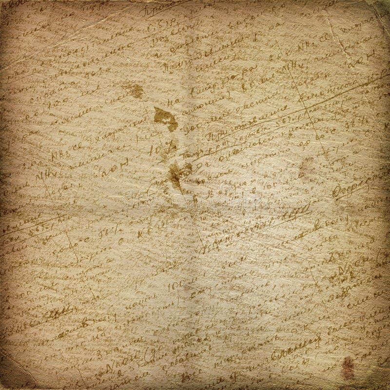 отчуженная бумага рукописи старая иллюстрация штока