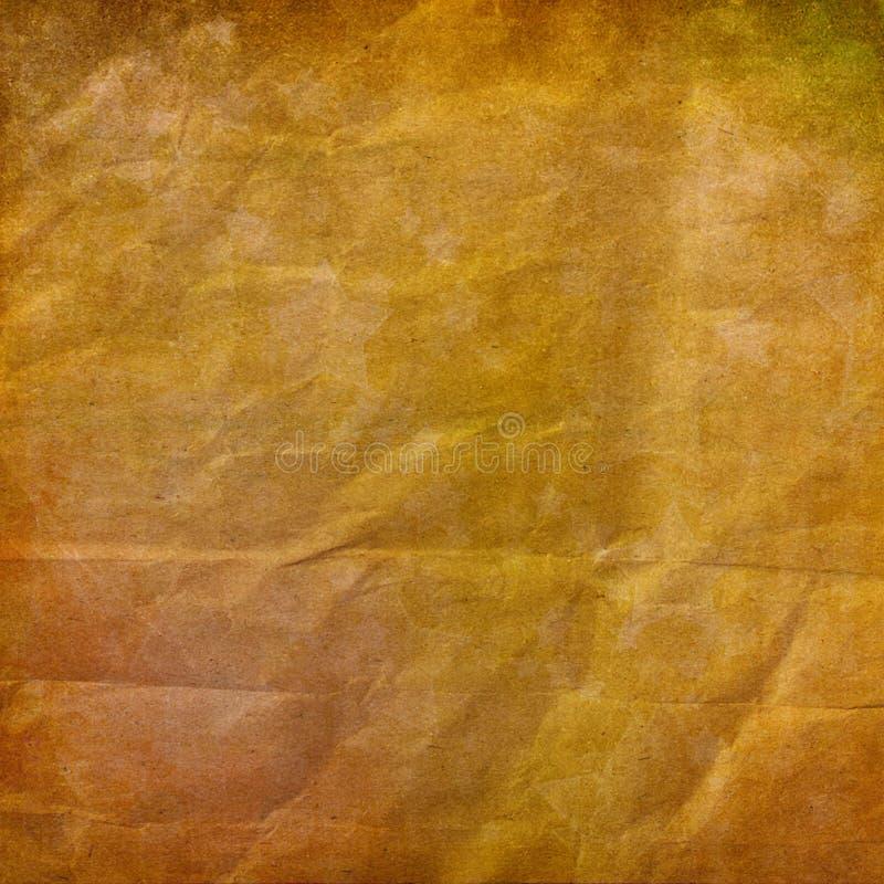 Отчуженная бумажная предпосылка с ornamental золота иллюстрация штока