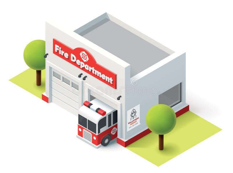 Отделение пожарной охраны вектора равновеликое бесплатная иллюстрация