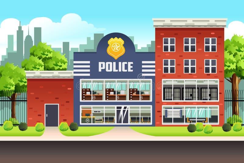 Отделение полици иллюстрация вектора