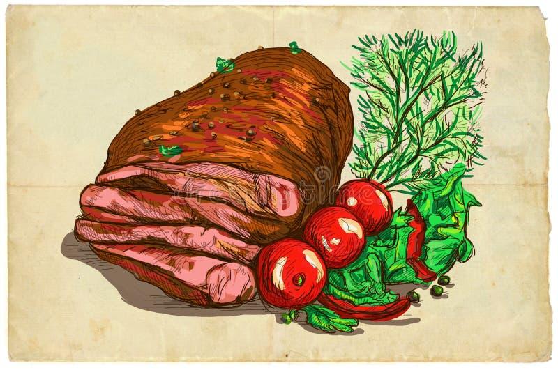 От еды серии: Стейк говядины иллюстрация штока