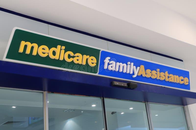 Отдел Medicare человека обслуживает Австралию стоковые фотографии rf