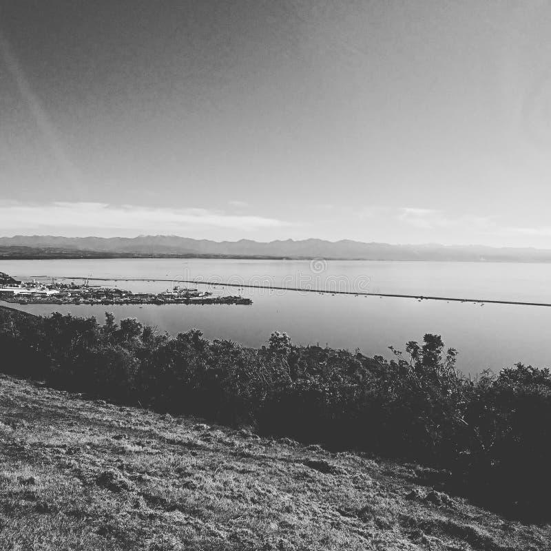 от моего дома в athawai Нелсоне Новой Зеландии стоковая фотография