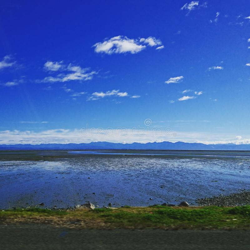 от моего дома в athawai Нелсоне Новой Зеландии стоковое фото
