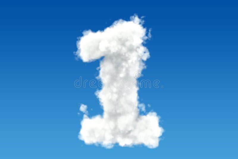 1, от облаков в небе 3d иллюстрация штока