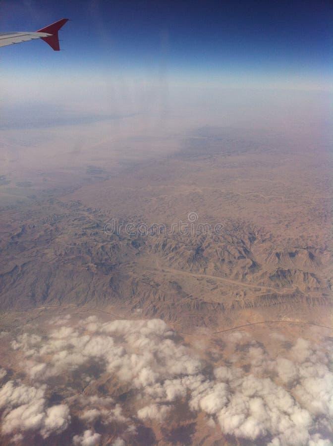От окна самолета стоковая фотография rf