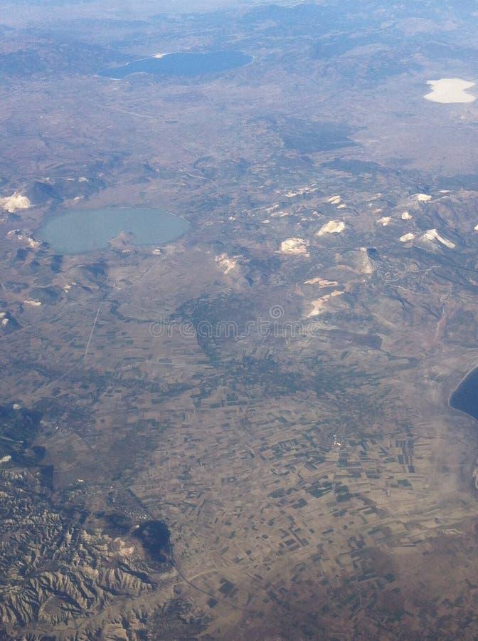 От окна самолета стоковая фотография