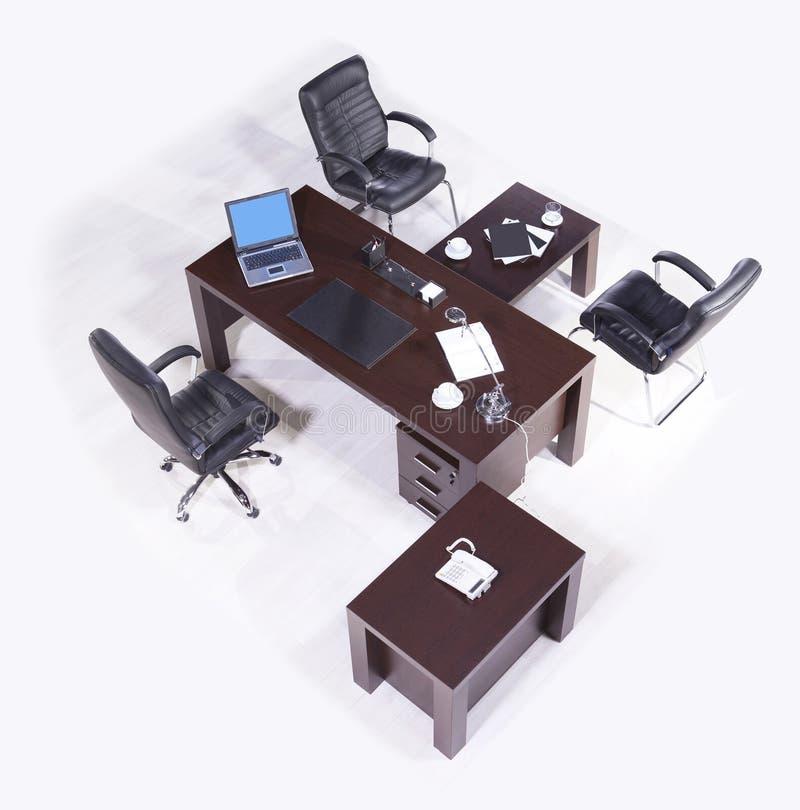 Офисная мебель на белой предпосылке стоковые фотографии rf