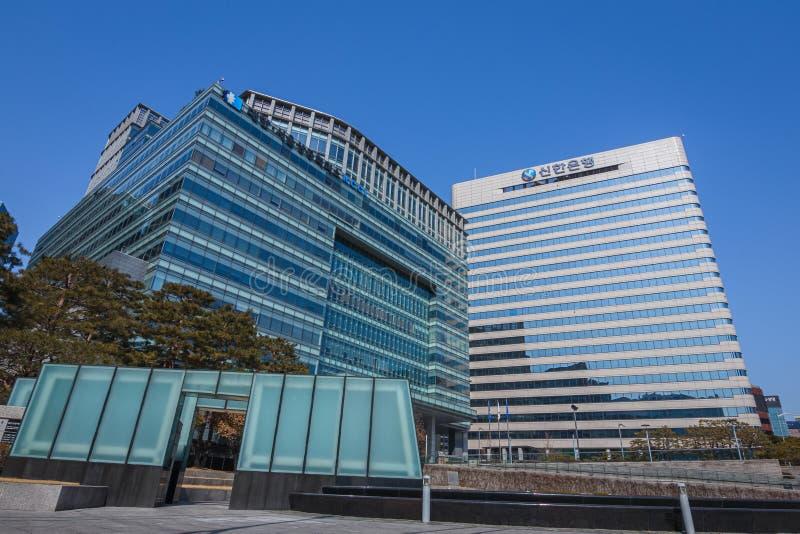 Офисное здание в Сеуле стоковое фото