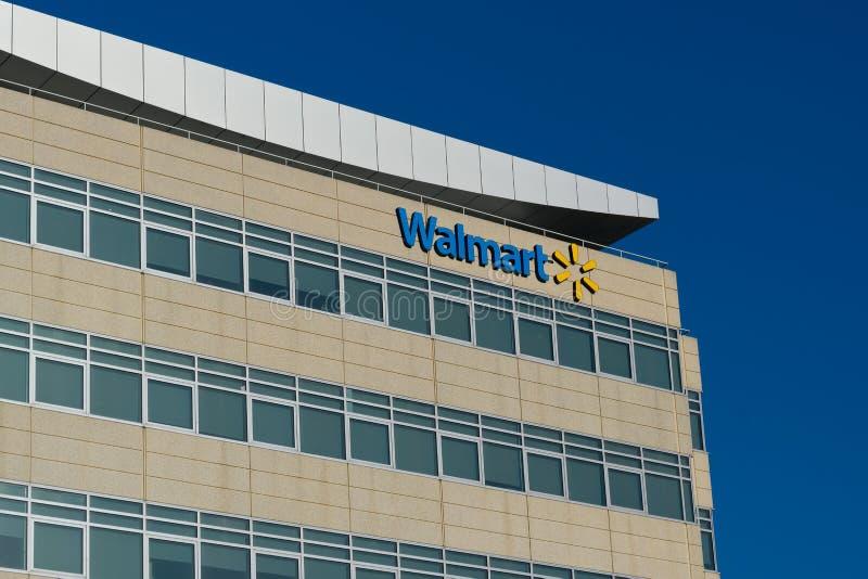 Офисное здание штабов Walmart региональное стоковое изображение rf