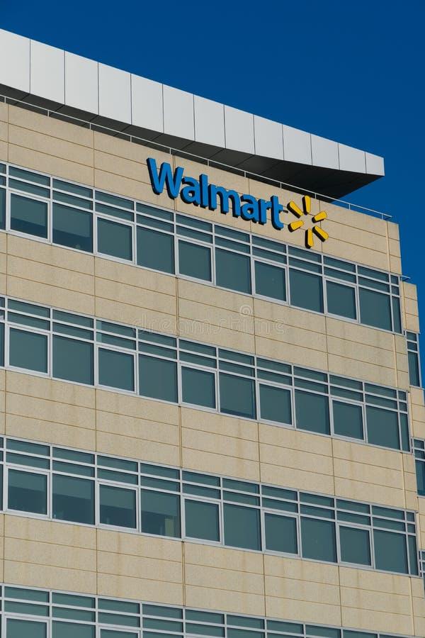 Офисное здание штабов Walmart региональное стоковое изображение