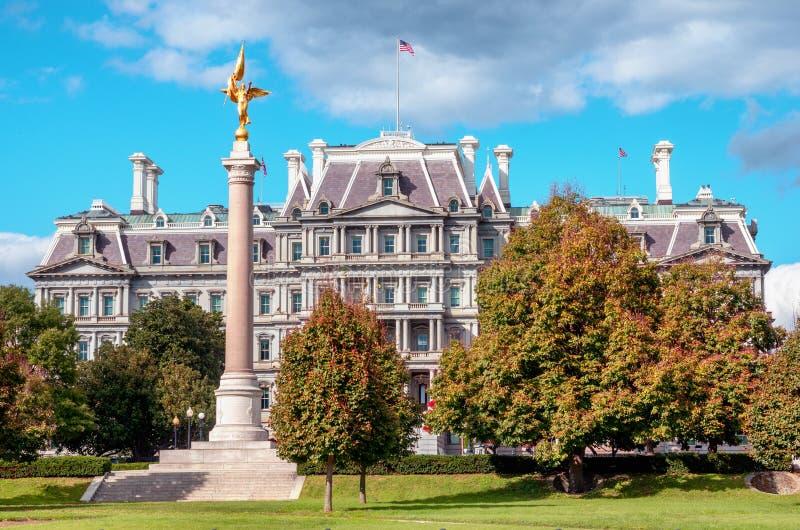 Офисное здание Eisenhower Exectutive в Вашингтоне, DC стоковая фотография rf