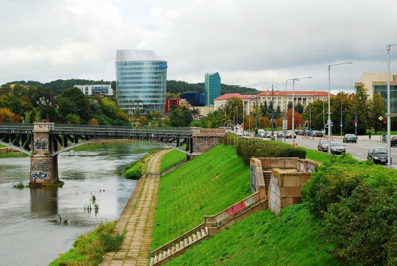 Офисное здание банка Barclays и educology Вильнюса университет стоковая фотография