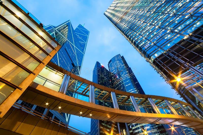 Офисные здания в центральном Гонконге стоковое фото rf
