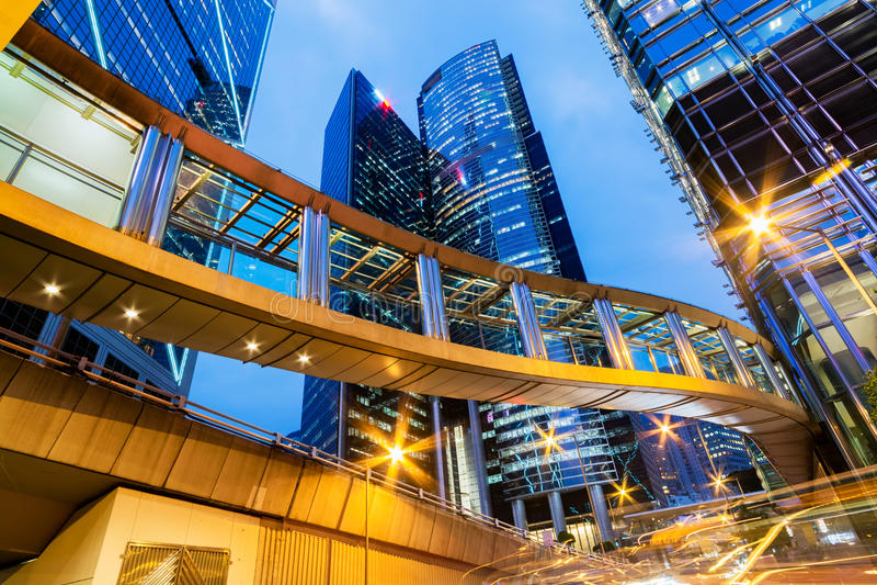 Офисные здания в центральном Гонконге стоковые фото