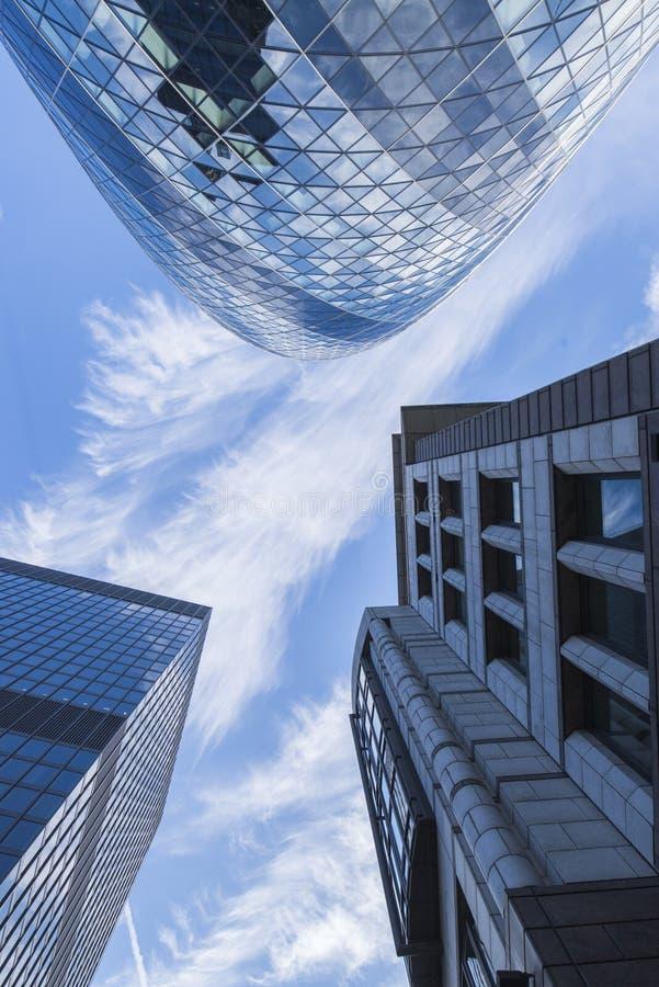 Офисы в городе Лондона стоковая фотография rf