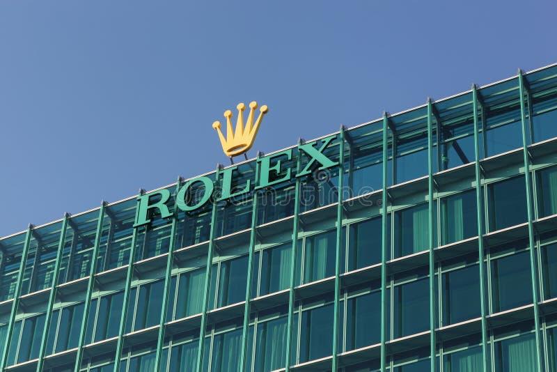 Офисы и heaquarter Rolex в Женеве, Швейцарии стоковое изображение