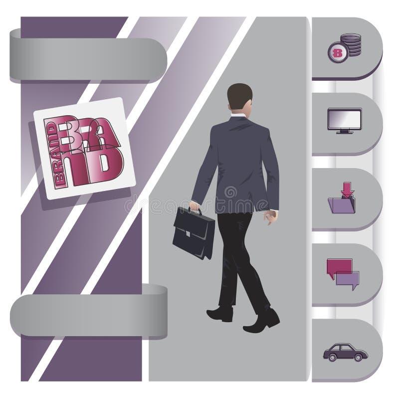 офис Входящий бизнесмен разветвляя бесплатная иллюстрация