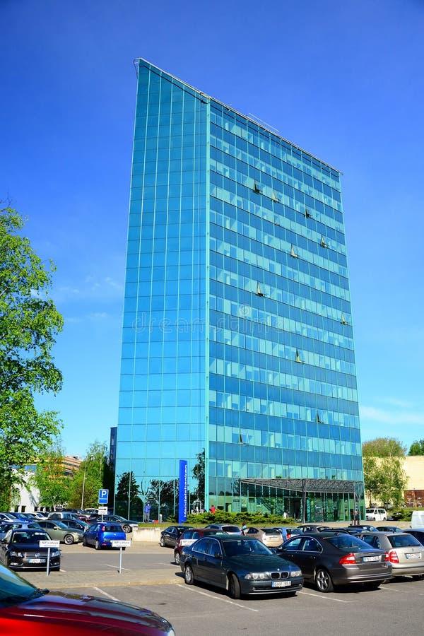 Офис в городе Вильнюса на времени весны стоковые изображения rf
