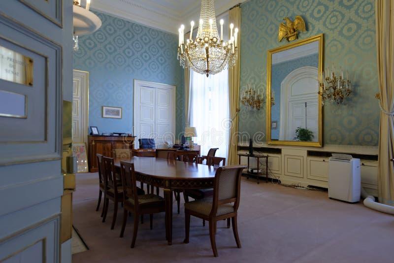 Офис в дворце Люксембурга, Париж, Франция стоковая фотография
