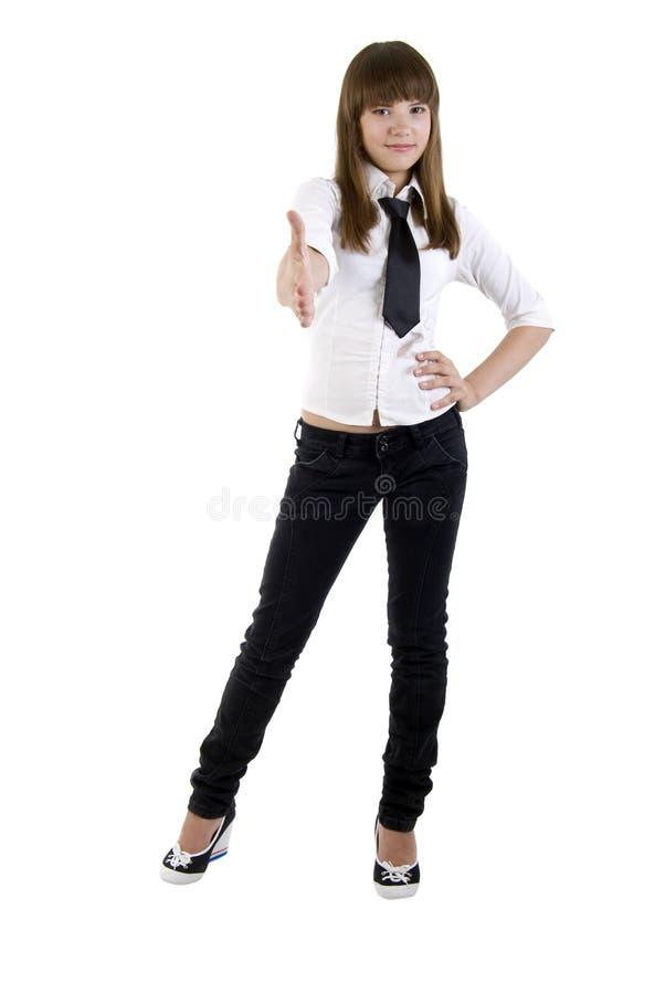офис девушки здравствулте! предназначенный для подростков стоковое фото