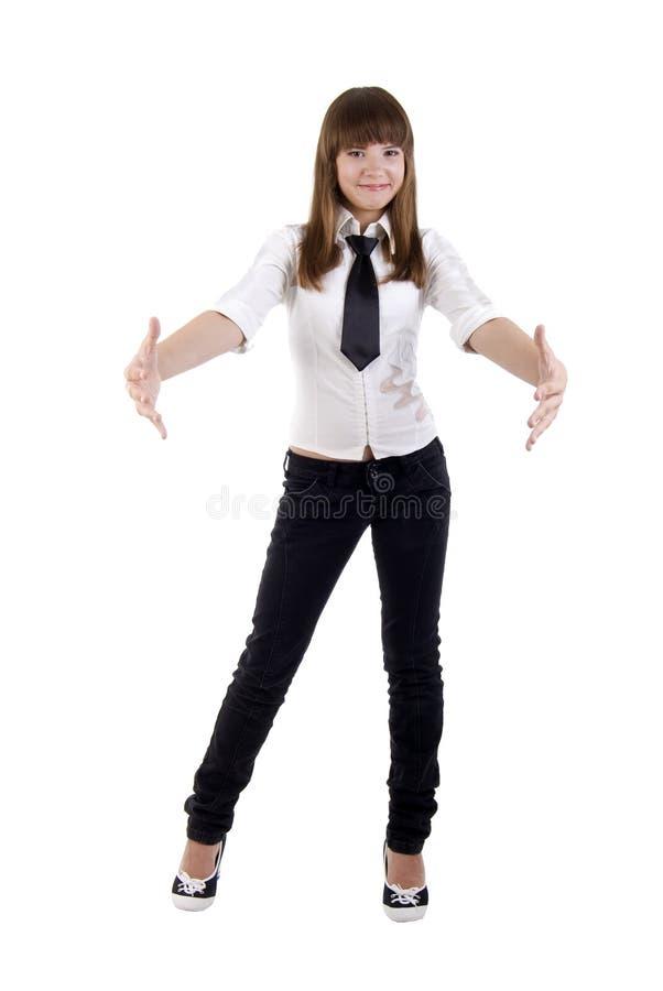 офис девушки рукоятки открытый стоковое изображение