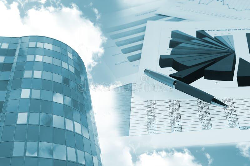 офис диаграммы здания финансовохозяйственный стоковые изображения rf
