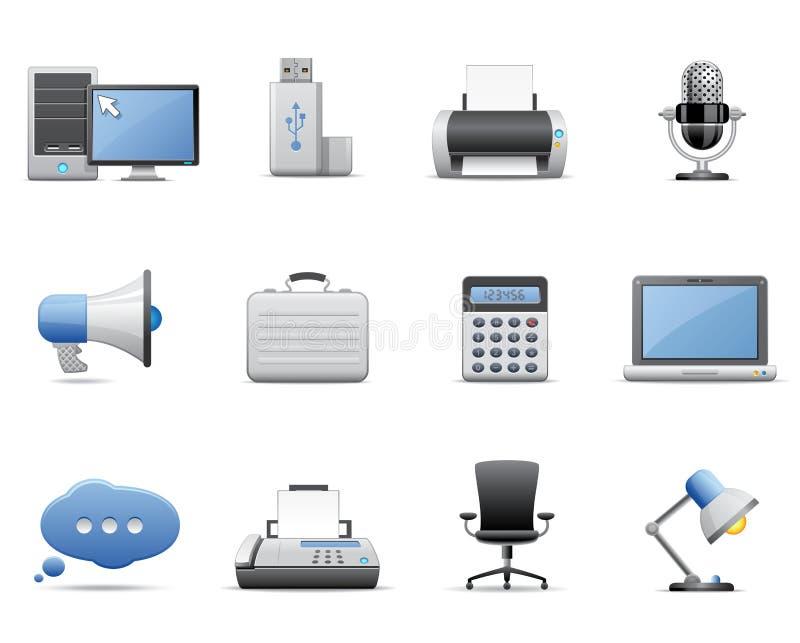 офис икон дела стоковые изображения rf