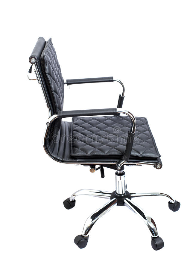 офис кресла черный кожаный стоковая фотография