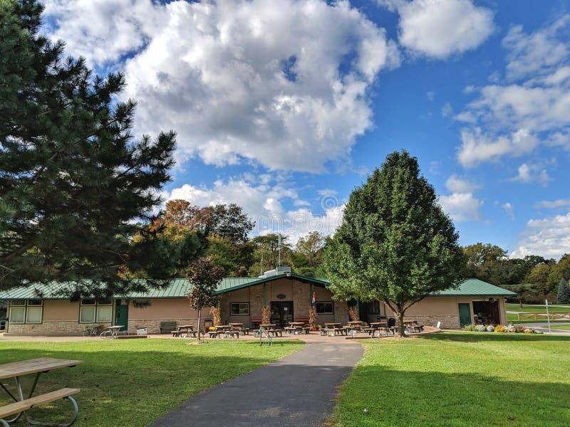 Офис лагеря гавани Mablehead парков штата Огайо восточный стоковые изображения rf