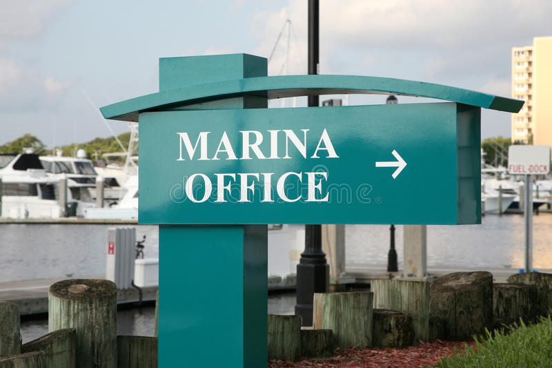 офис Марины стоковые изображения